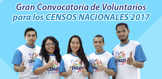 Participa del Gran Censo Nacional 2017